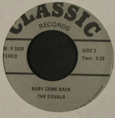 Head,Roy / Equals: Treat Her Right / Baby Come Back,Ri, Classic, LC,Mono(TM - P 3020), Canada,  - 7inch - T2815 - 2,50 Euro