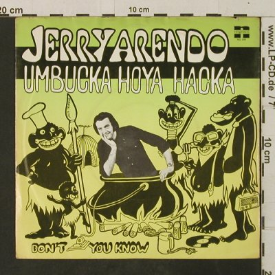 Arendo,Jerry: Umbucka Hoya Hacka/Don't You Know, Negram(NG 346), NL, 1973 - 7inch - T3029 - 3,00 Euro