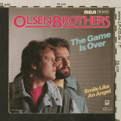 Olsen Brothers: The Game Is Over/Smile Like AnAngel, RCA(PB 69106), D, 1984 - 7inch - T3030 - 2,00 Euro