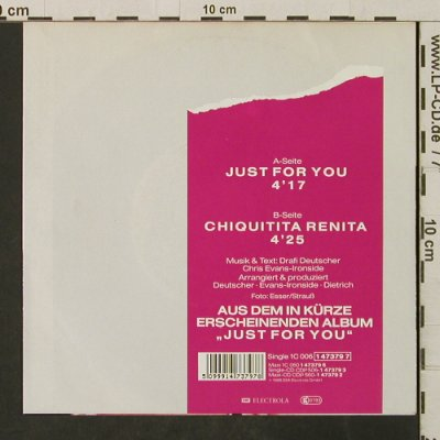 Mixed Emotions: Just For You / Chiquitita Renita, Electrola(1 47379 7), D, 1988 - 7inch - T3097 - 2,00 Euro