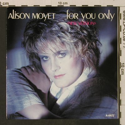 Moyet, Alison: For You Only / Twisting The Knife, CBS(A 6672), NL, 1985 - 7inch - T3188 - 2,00 Euro