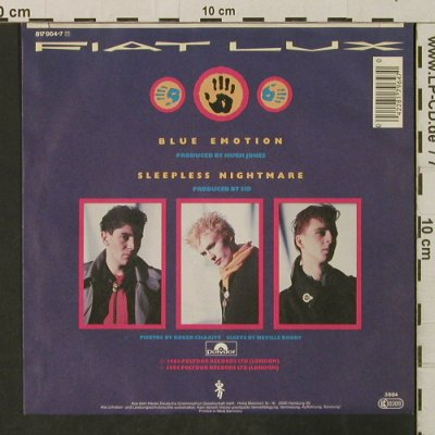 Fiat Lux: Blue Emotion/Sleepless Nightmare, Polydor(817 964-7), D, 1984 - 7inch - T3195 - 2,50 Euro