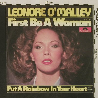 O'Malley,Leonore: First Be A Woman, Polydor(2095 181), D,m-/vg+, 1979 - 7inch - T3258 - 1,50 Euro
