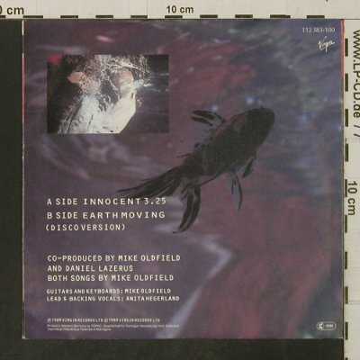 Oldfield,Mike: Innocent / Earth Moving, Virgin(112 383), D, 1989 - 7inch - T3264 - 2,50 Euro