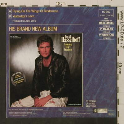 Hasselhoff,David: Flying On The Wings Of Tenderness, White(112 600), D, 1989 - 7inch - T3372 - 2,00 Euro