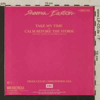 Easton,Sheena: Take My Time/Calm Before The Storm, EMI(006-07 451), D, 1981 - 7inch - T3462 - 2,00 Euro