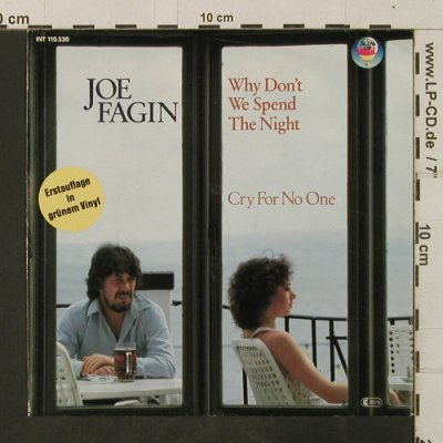 Fagin,Joe: Why Don't We Spend The Night/Cry Fo, Blow Up,geen Vinyl(INT 110.530), D, 1982 - 7inch - T3505 - 2,50 Euro