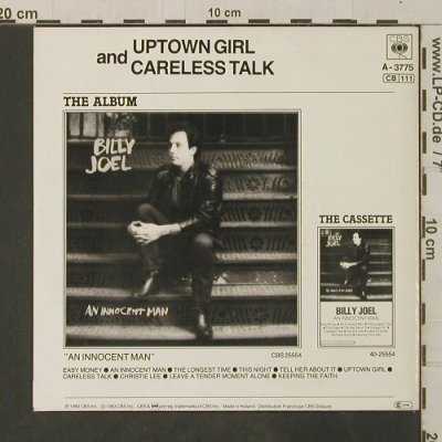 Joel,Billy: Uptown Girl / Careless Talk, CBS(A-3775), NL, 1983 - 7inch - T3566 - 2,50 Euro