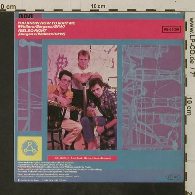 Landscape: You Know How To Hurt Me/Feel So Rig, RCA(PB 68059), D, 1983 - 7inch - T3701 - 2,00 Euro