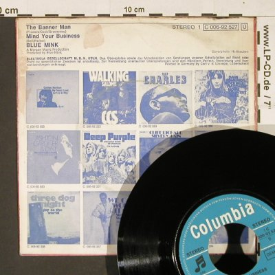 Blue Mink: The Banner Man, m-/VG-, woc, Columbia(C 006-92 527), D,  - 7inch - T37 - 3,00 Euro