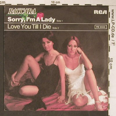 Baccara: Sorry, I'm A Lady / Love You Till I, RCA(PB 5555), D, 1977 - 7inch - T4136 - 2,50 Euro