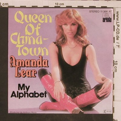 Lear,Amanda: Queen Of China-Town / My Alphabet, Ariola(11 366 AT), D,  - 7inch - T4503 - 2,50 Euro