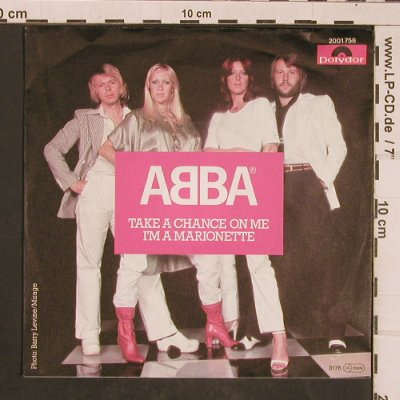 Abba: Take A Chance On Me, Polydor(2001 758), D, 1977 - 7inch - T4505 - 3,00 Euro