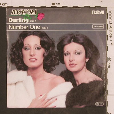 Baccara: Darling / Number One, RCA(PB 5566), D, 1978 - 7inch - T4669 - 3,00 Euro