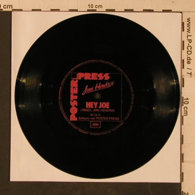 Hendrix,Jimi / Monika Dannemann: Hey Joe, spoken words, one-sided, Poster Press(SH 01034-1), D,NoCover,  - Flexi - T4693 - 5,00 Euro
