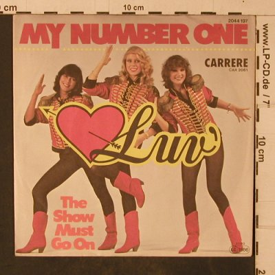 Luv: My Mumber One/The show must go on, Carrere(2044 197), D, 1980 - 7inch - T4721 - 2,50 Euro