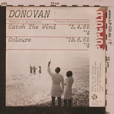 Donovan: Catch The Wind / Colours, PYE(12 749 AT), D, Ri, 1965 - 7inch - T4745 - 3,00 Euro