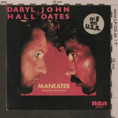 Hall,Dary & John Oates: Maneater / Delayed Reaction, RCA(PB-3354), E, 1982 - 7inch - T4848 - 2,50 Euro