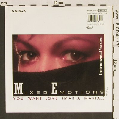 Mixed Emotions: You want Love, Electrola(14 7172 7), D, 1986 - 7inch - T485 - 2,00 Euro