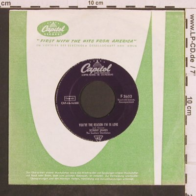 James,Sonny: You're the Reason I'm in Love, FLC, Capitol(F 3602), D, vg+/m-,  - 7inch - T4873 - 3,00 Euro