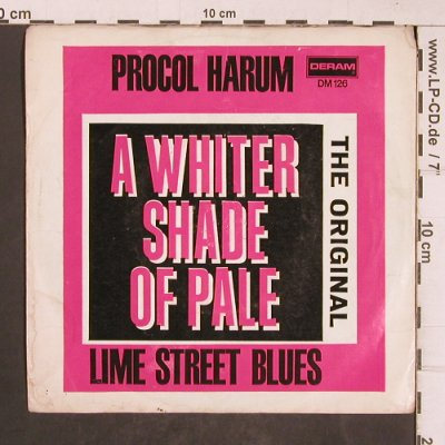 Procol Harum: A Whiter Shade Of Pale/LimeSt.Blues, Deram(DM 136), D,vg+/vg+,  - 7inch - T5117 - 2,50 Euro