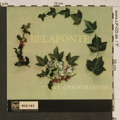 Belafonte,Harry: At Christmastide, Medley, vg+/m-, RCA(RCX-163), UK, 1958 - EP - T610 - 3,00 Euro