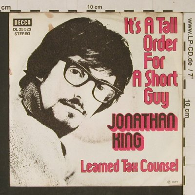 King,Jonathan: It's a tall order for a short guy, Decca(DL 25 523), D,m-/vg+, 1972 - 7inch - T637 - 3,00 Euro