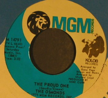 Osmonds: The Proud One, FLC, MGM(M 14791), US, 1975 - 7inch - T962 - 2,50 Euro