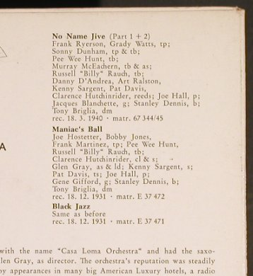 Casa Loma Orchestra: Kings of Swing, Vol.4, Brunswick(10 304 EPB), D,  - EP - T4240 - 4,00 Euro