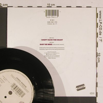 Ingram,James: I don't have the Heart, WB(W9911), D, 1989 - 7inch - S8049 - 2,50 Euro