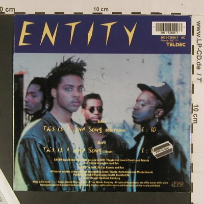 Entity: This is a Love Song, Teldec(9031-72555-7), D, 1990 - 7inch - S8050 - 2,50 Euro