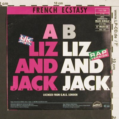 French Ecstasy: Liz and Jack push it *2, Global Satellite(112 739), D, 1989 - 7inch - S9341 - 3,00 Euro