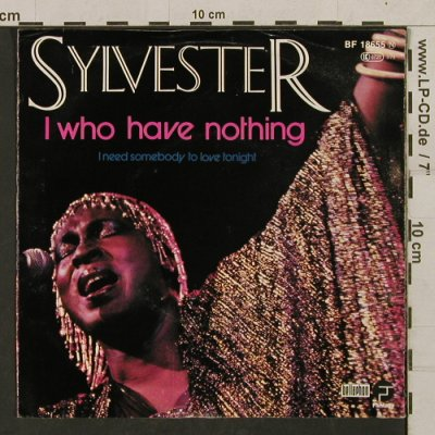 Sylvester: I who have nothing+1,clearPinkVinyl, Fantasy(BF 18655), D, 1979 - 7inch - T1362 - 3,00 Euro