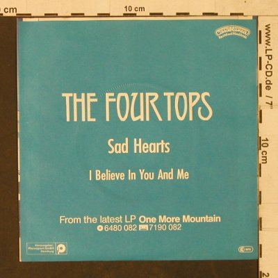 Four Seasons: Sad Hearts/I believe in you and me, Casablanca(6180 121), D, 1982 - 7inch - T1480 - 3,00 Euro