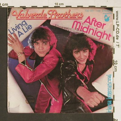 Valverde Brothers: After Midnight / Living a lie, Hansa(100 031-100), D,vg+/vg+, 1978 - 7inch - T162 - 1,50 Euro