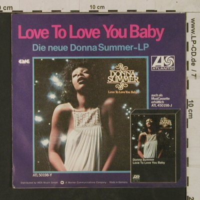 Summer,Donna: Love To Love You Baby-US ChartVers., Atlantic(ATL 10 625-N), D+ Facts, 1976 - 7inch - T1761 - 20,00 Euro
