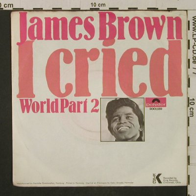 Brown,James: I cried / World Part 2, vg+/VG+, Polydor(2001 189), D, 1969 - 7inch - T2082 - 4,00 Euro