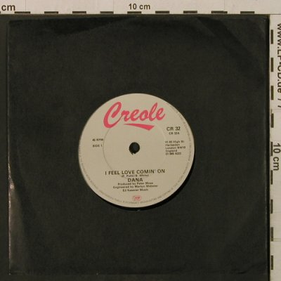 Dana: I Feel Love Comin' On/Lovely Baby, Creole(CR 32), UK, LC,  - 7inch - T2164 - 2,00 Euro