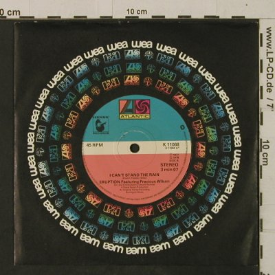 Eruption: I Can't Stand the Rain/Be Yourself, Atlantic(K 11068), UK, FLC, 1978 - 7inch - T2503 - 3,00 Euro