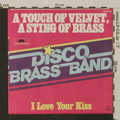 Disco Brass Band: A Touch Of Velvet,A String Of Brass, Polydor(2040 195), D, 1978 - 7inch - T2506 - 3,00 Euro