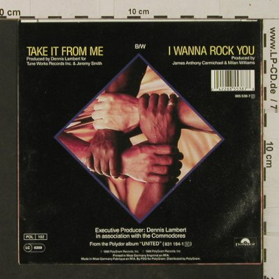 Commodores: Take It From Me / I Wanna Rock You, Polydor(885 538-7), D, 1986 - 7inch - T2529 - 2,00 Euro