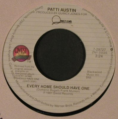 Austin,Patti: Solero / Every Home Should Have One, Quest(7-2927), US, FLC, 1981 - 7inch - T2564 - 3,00 Euro