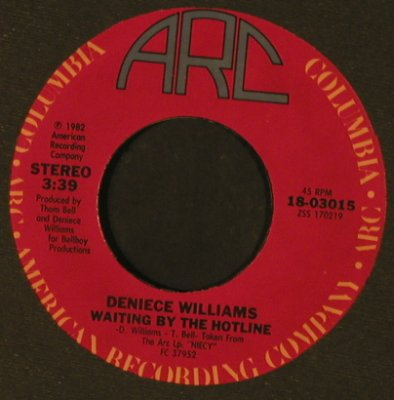 Williams,Deniece: Waiting By The Hotline / Love Notes, ARC / Promo-stol(18-03015), US, FLC, 1982 - 7inch - T2569 - 2,50 Euro