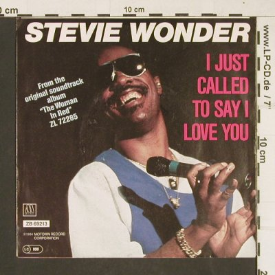 Wonder,Stevie: I Just Called To Say I Love You, Motown(ZB 69213), D, 1984 - 7inch - T267 - 2,00 Euro