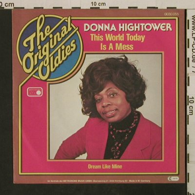 Hightower,Donna: This World Today Is A Mess, Metronome(0030.055), D, 1973 - 7inch - T2724 - 2,50 Euro