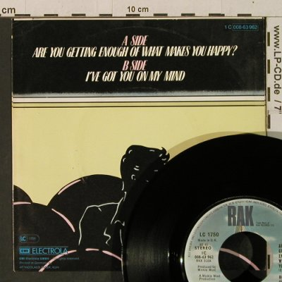 Hot Chocolate: Are You Getting Enough Of What Make, RAK(008-63 962), UK, 1980 - 7inch - T3463 - 2,50 Euro