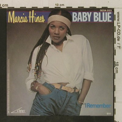 Hines,Marcia: Baby Blue / I Remember, Logo(0034.033), D, 1982 - 7inch - T3499 - 2,50 Euro