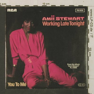 Stewart,Amii: Working Late Night/You To Me, RCA(PB 6658), D, 1983 - 7inch - T3506 - 2,00 Euro