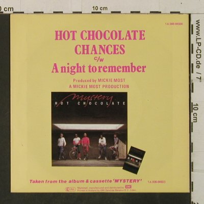 Hot Chocolate: Chances / A Night To Remember, RAK(1 A 006-64936), NL, 1982 - 7inch - T3513 - 2,50 Euro