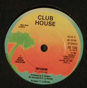 Club House: Do it Again/Billie Jean / Infussion, Island(IS 132), UK, 1983 - 7inch - T4080 - 3,00 Euro